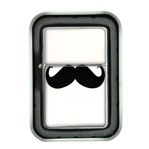 Windproof Oil Lighter & Gift Box 2nd Mustache Design 07 Hipster Handlebar