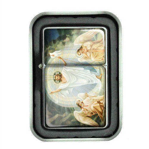 Windproof Oil Lighter & Gift Box Heavenly Angels Design 01 Bible Spiritual Being