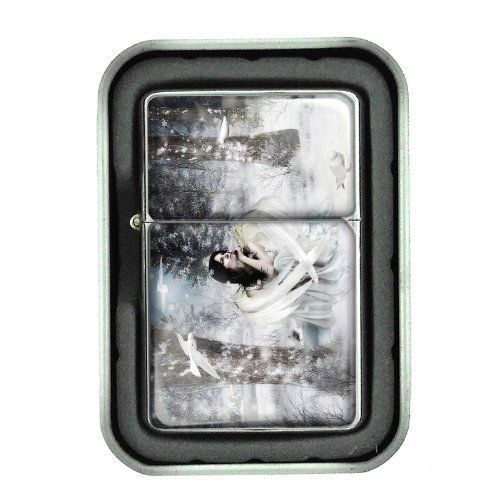 Windproof Oil Lighter with Gift Box Fairies Design 03 Celtic Mystical Creature