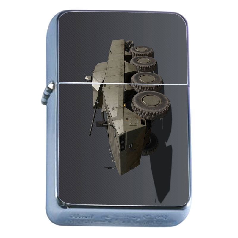 Windproof Refillable Flip Top Oil Lighter Amphibious Weapon D8 Vehicle Land Sea