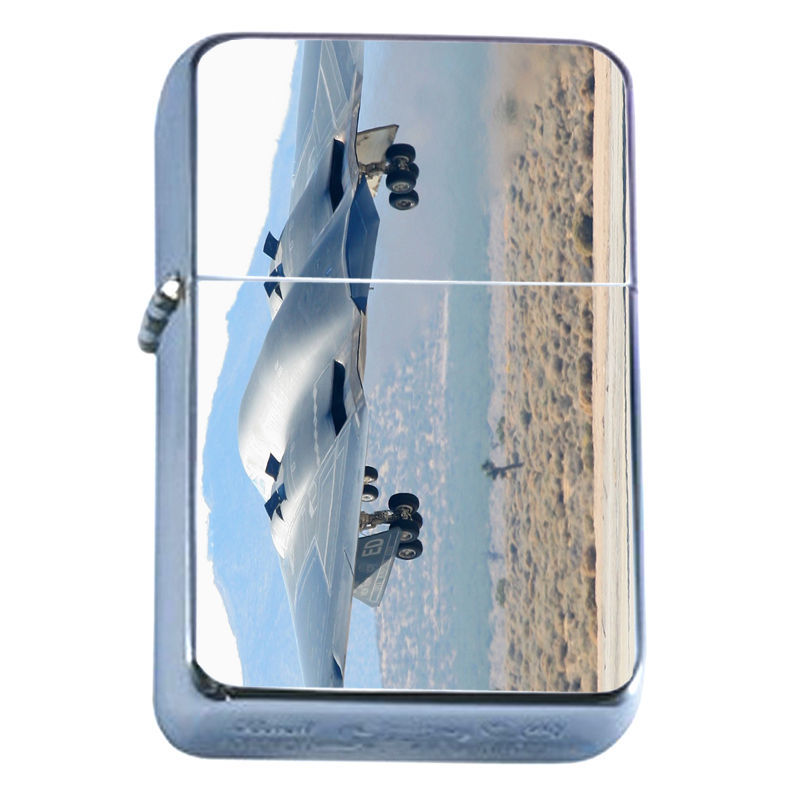 Windproof Refillable Flip Top Oil Lighter Bombers D6 Airplane Military Aircraft