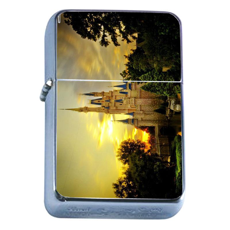 Windproof Refillable Flip Top Oil Lighter Castles D8 Magical Palace Mystical