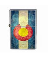 Windproof Refillable Flip Top Oil Lighter Colorado Flag D2 420 State Denver - $13.95