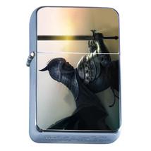 Windproof Refillable Flip Top Oil Lighter Knight D9 Christian Warrior Chivalry - $8.86