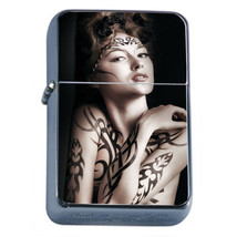 Windproof Refillable Flip Top Oil Lighter Tattoo D6 Skin Body Art Ink Tat - $8.86
