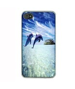 iPhone 4 4S Hard Case Back Cover Dolphins Design 02 Cetacean Mammal Mari... - $8.86