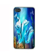iPhone 4 4S Hard Case Back Cover Dolphins Design 04 Cetacean Mammal Mari... - $8.86