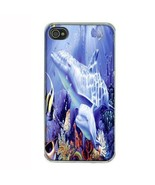 iPhone 4 4S Hard Case Back Cover Dolphins Design 08 Cetacean Mammal Mari... - $8.86