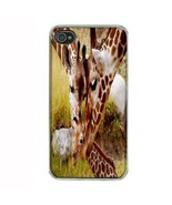 iPhone 4 4S Hard Case Back Cover Giraffe Design 04 Wild Life Zoo Animal ... - $8.86