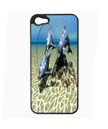 iPhone 5 5s Hard Case Back Cover Dolphins Design 07 Cetacean Mammal Mari... - $8.86