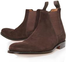 O handmade men brown chelsea leather boot men ankle boot c4fe thumb200