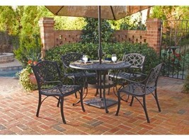 Home Styles 5554-308 Biscayne 5-Piece Outdoor Dining Set, Black Finish, ... - €862,07 EUR