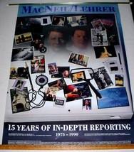 MACNEIL LEHRER NEWS HOUR 1990 PBS TV POSTER 27x39 - $15.00