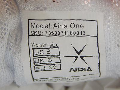 Airia One Women's Athletic Running Shoes Size US 8 M (B) EU 39 White