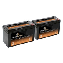 12V 7.4AH Sealed Lead Acid (SLA) Battery - T1 Terminals - for ZB-12-7.4 - 2PK - $38.42