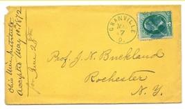 1872 Granville, OH Vintage Post Office Postal Cover - $7.99