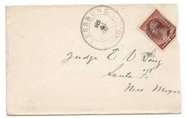 1887 Leesburg, IN Vintage Post Office Postal Cover - $7.99