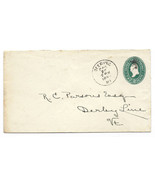 1895 Deering, ME Discontinued/Defunct Post Office (DPO) Postal Cover - €7,15 EUR