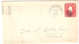 1904 Peak's Island, ME Discontinued/Defunct Post Office (DPO) Postal Cover - $7.99