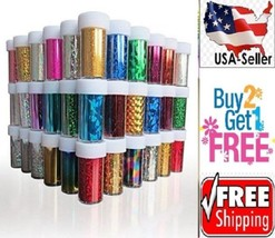 15 Colors Nail Art Stickers Tips Wraps Transfer Foil BUY2GET1FREE-A--USA - $7.47
