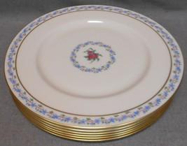 Set (6) Lenox FAIRMOUNT PATTERN Dinner Plates MADE IN USA - $55.43
