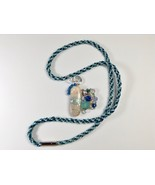 Necklace 25Inches Handmade Asymmetrical Polymer Clay Mix Media Pendant B... - $44.99