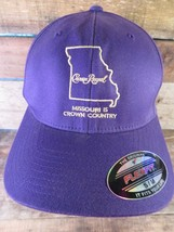 CROWN ROYAL Missouri Is Crown Country Purple Fitted Flex Size S-M Adult Cap Hat - $19.79
