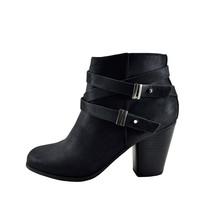 Soda Undine Black Women's Double Buckle Ankle Strap Bootie - $31.95