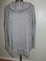 Terra & Sky Womens Plus Size 4X 28W 30W Blouse Draped Top Gray Soft Raglan - $23.89