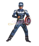 Child Boys Avengers Captain America Halloween Costume Marvel Age of Ultron  - $19.75
