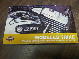 2016 Harley Davidson Trike Models FRENCH Owner's Manual 83390-16FR - $30.67