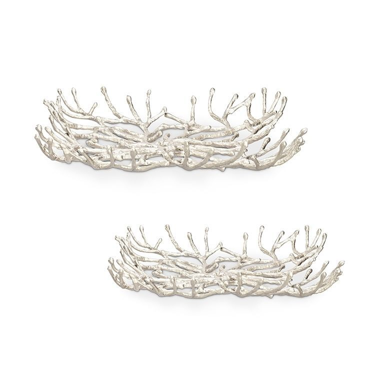 Cast Iron Modern Twig  Trays,set of 2!
