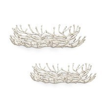 Cast Iron Modern Twig  Trays,set of 2!  - $183.15