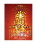 Stunning Vintage Style Crystal Sconce,Wall Fixture,11'' x 16''h. - $361.35