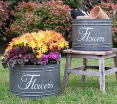 Set of 2 Garden Flower Planters,Bins 11'' and 13'' Diameter x 8''Tall. - $54.45