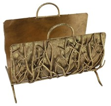 Italian Gold Iron Twig Log Holder with Handles ... - $252.45
