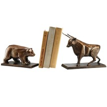 Gorgeous Cast Iron Bull and Bear Bookends - £73.99 GBP