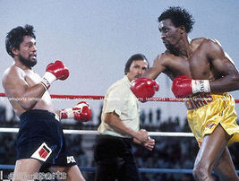 Thomas Hearns Roberto Duran Vintage 11X14 Matted Color Boxing Memorabilia Photo - $14.99