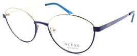 GUESS GU3043 090 Eye Candy Women's Eyeglasses Frames 51-17-140 Blue / Gold - $69.20
