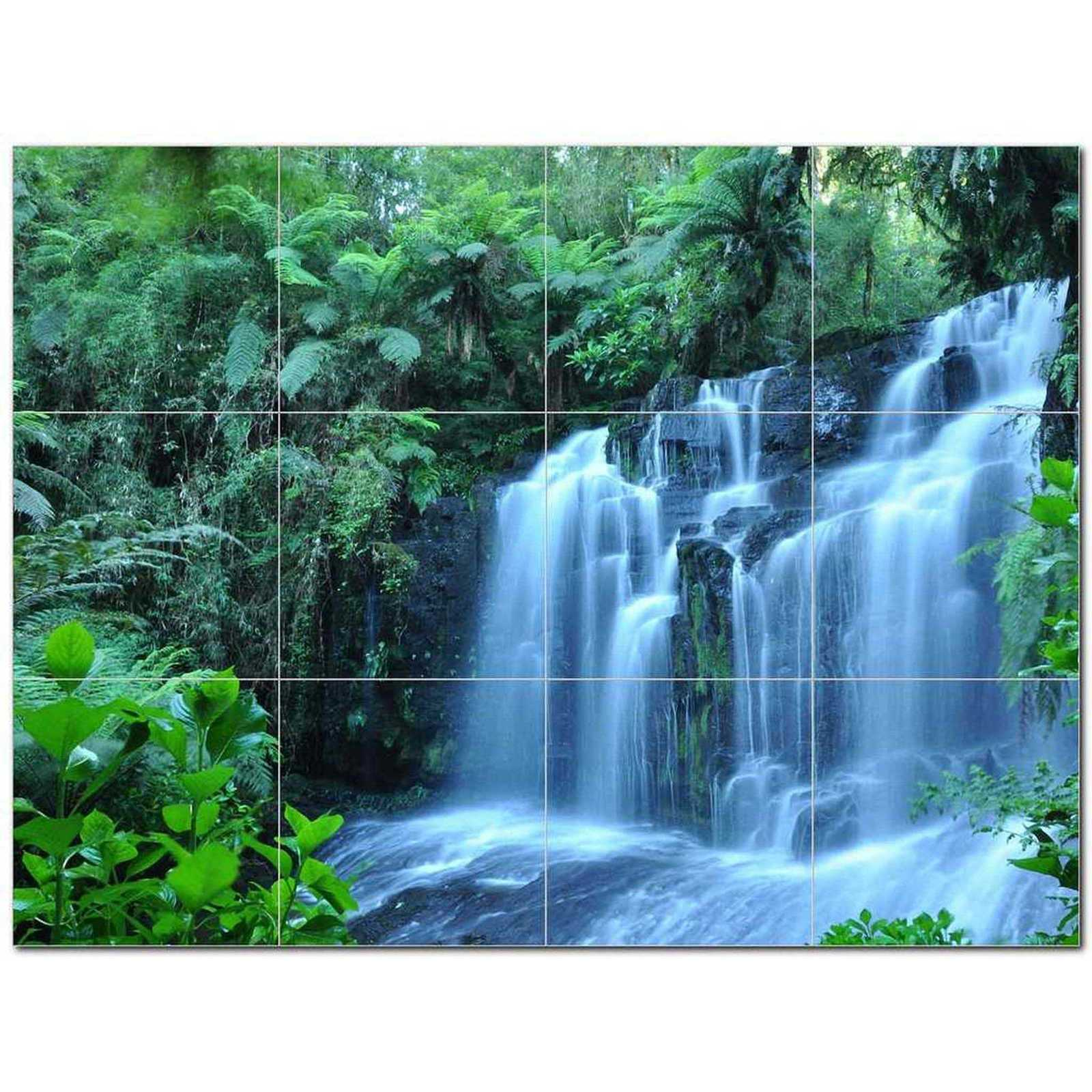 Primary image for Waterfall Photo Ceramic Tile Mural Kitchen Backsplash Bathroom Shower BAZ406126
