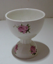 VINTAGE  Double Sided Egg Cup with Rose Pattern - $11.00