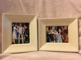 Set Of 2 Framed Wizard Of Oz Fabric Pictures Ho... - $14.03