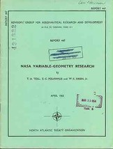 NASA Variable-Geometry Research illustrated 1963 NATO Report - $9.89