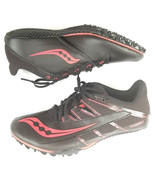 Saucony Mens Spitfire 4 Running Shoes Track Black Red Size 7.5 - $16.39