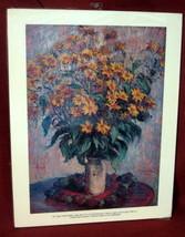 Claude Monet Vase Chrysanthemums Mums Print Pai... - $29.69