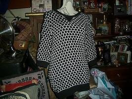 KIRNA ZABETE for Target Slick Black+White Polka Dot Sweater Size L - $17.82