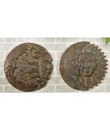 "15"" D Sun & Moon Design Wall Plaques Set of 2 Polyresin - $103.94"