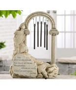 "14"" Memorial Design Arched Column Standing Windchime w Inspirational Sen... - $59.39"