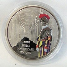 VATICAN SWISS GUARD LION COLOR PROOF LE 5000 CONGO COIN Uncirculated - $37.23