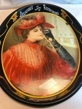 Vintage Coca Cola Lady In Red, Good To The Last Drop, Oval Metal Tray, 1... - $11.40